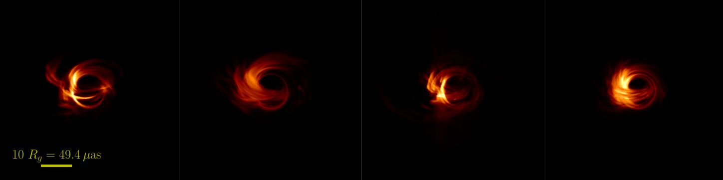 Several simulated images of Sgr A*.